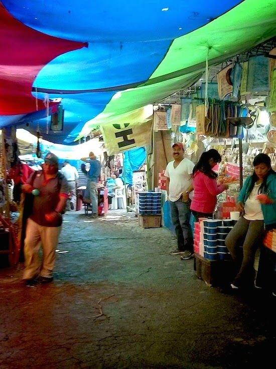Inside the market San Martin