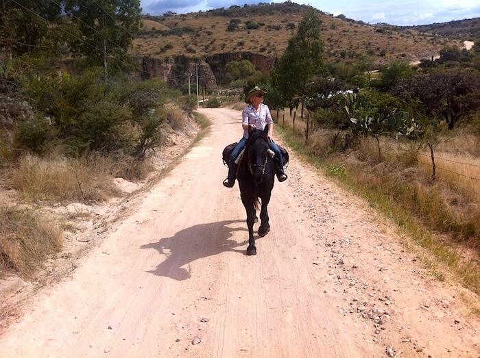 Katie on Guerrero Approaching San Martin