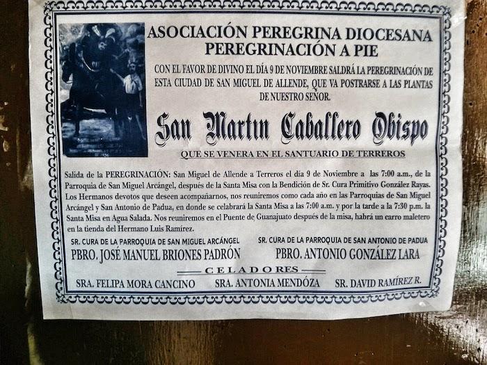 San Martin Poster from Church