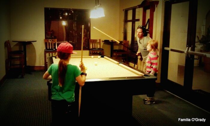 Tony Playing Pool with Kids