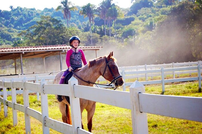 Daughter Horseback riding in San Pancho
