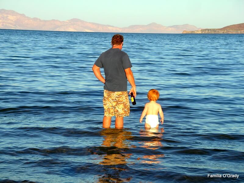 Frank & Liam Baja in Water 2006