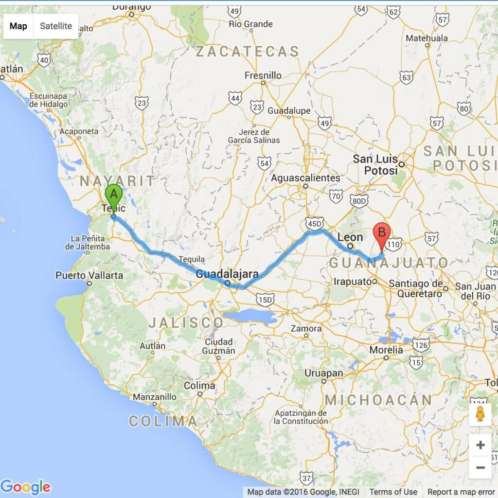 Guanajuato to Nayarit
