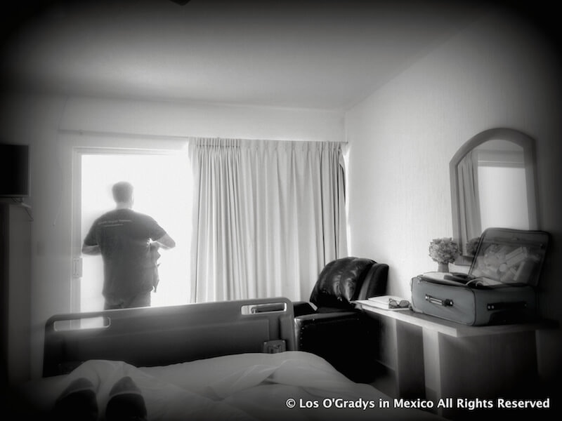 Frank setting hospital room up