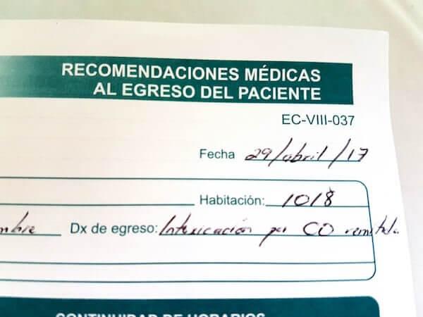 Hospital Diagnosis of Carbon Monoxide Intoxication in Guadalajara