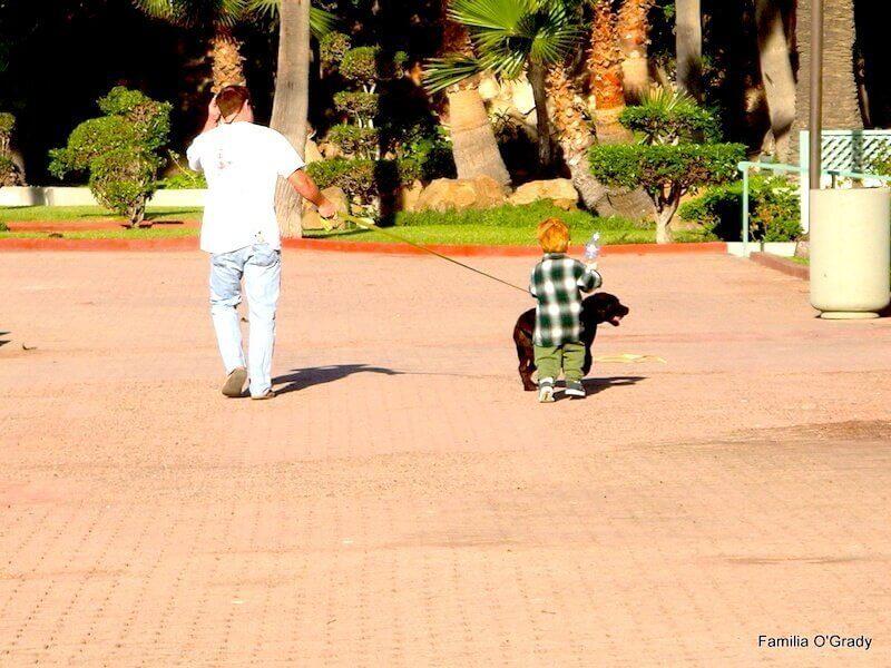 walking Seamus in Ensenada